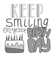 Hand drawn lettering happy birthday vector image