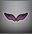hand sign violet gradient vector image vector image