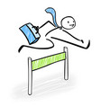 happy business sman jumping over obstacles vector image