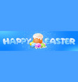 happy easter banner template vector image