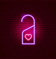 hotel label love neon sign vector image