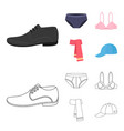 male shoes bra panties scarf leather clothing vector image vector image