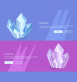 minerals crystals web posters online push buttons vector image vector image