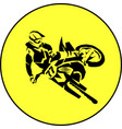 moto racer extreme vector image vector image