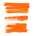 orange gouache brush strokes the perfect backdrop vector image vector image