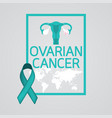 ovarian cancer icon vector image vector image