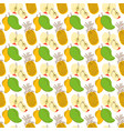 pattern background with three element fruits vector image