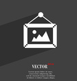 picture symbol Flat modern web design with long vector image vector image