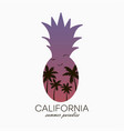 pineapple california vector image vector image