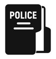 police station folder icon simple style vector image vector image