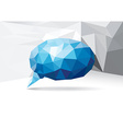 Polygonal speech bubble vector image vector image