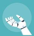 robot arm vector image