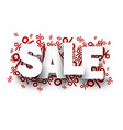 Sale paper note over percent signs vector image