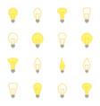 set color icons bulbs vector image