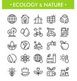 set ecology and nature icons vector image vector image