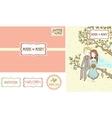 set wedding invitation cards vector image