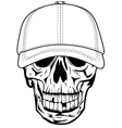 Skull in baseball cap vector | Price: 1 Credit (USD $1)
