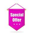 special offer violet tag label for business vector image vector image