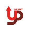 start up logo startup emblem running business vector image vector image