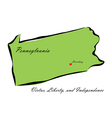 State of Pennsylvania vector image vector image
