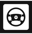 Steering wheel of taxi icon simple style vector image vector image