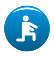 stick figure stickman icon blue vector image