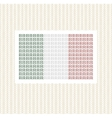 The Italian flag from lines against gold vector image vector image