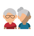upperbody cute old couple vector image vector image