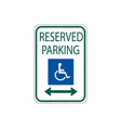 usa traffic road signs disabled parking spot vector image vector image