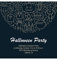 Web Banner or Emblem Halloween vector image vector image