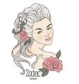 zodiac of scorpio as girl with vector image vector image