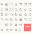 Finance Outline Icons for web and mobile apps vector image
