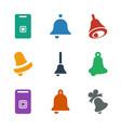 9 jingle icons vector image vector image