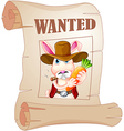 A poster of a wanted bunny vector image vector image