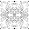 abstract black seamless pattern on white vector image vector image