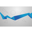 abstract blue geometric corporate business vector image vector image