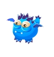 Blue Spiky Fantastic Friendly Pet Dragon With Tiny vector image vector image