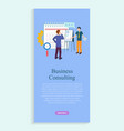 business consulting website man with assistant vector image