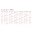 business planner calendar template for 2019 vector image