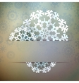 Christmas snowflake applique EPS10 vector image