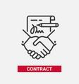 contract - modern line design single icon vector image vector image