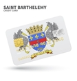 Credit card with Saint Barthelemy flag background vector image vector image