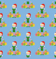 elf seamless pattern vector image vector image