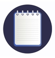 Flat icon blue notebook vector image vector image