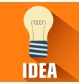 flat light bulb background concept vector image vector image