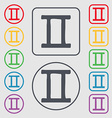 Gemini icon sign symbol on the Round and square vector image
