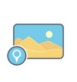 geolocatin image location photo picture pin icon vector image vector image