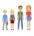 group of pupils of different races vector image