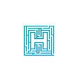 h maze letter logo icon design vector image