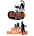 Halloween weekend party scary invitation vector image vector image